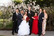 Parents, brothers, sister-in-law, bride and groom