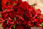 bridal bouquet - roses and orchids