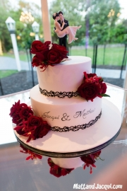 Our beautiful cake! Raspberry chocolate on the top and limoncello on the bottom =)