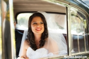 Happy bride, excited in anticipation!