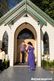 About to open chapel doors, bridesmaids to enter first