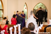 Mum and Dad stand to declare giving away the bride =)